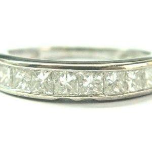 Jewelry - 18Kt Princess Cut Diamond 10-Stone Band Ring 4 1.2